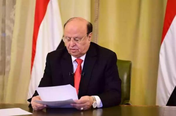 الرياض: الرئيس اليمني يقول ان فرص السلام مع الحوثيين تتبدد يوما بعد يوم