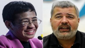 ستوكهولم: نوبل للسلام 2021 للصحفيين الفلبينية ماريا ريسا والروسي دميتري موراتوف