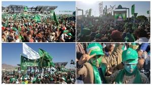 اليمن: زعيم الحوثيين يقول امام حشود غفيرة ان جماعته باتت جزء من معادلة حزب الله اللبناني